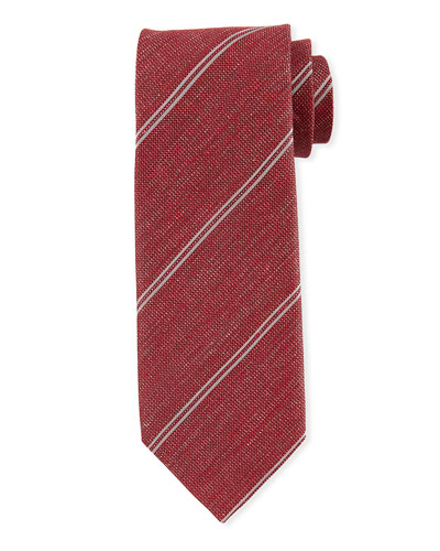 f63432e5faa0 Quick Look. TOM FORD · Men's Striped Silk/Linen Tie. Available in Red
