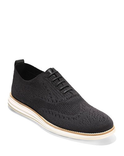 Men's ZeroGrand Knit Oxford Sneakers, Black