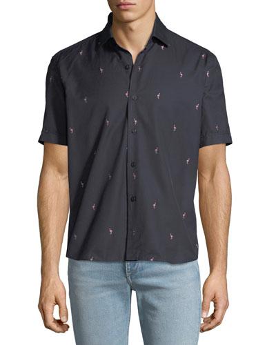 Men's Soft Flamingo Print Shirt