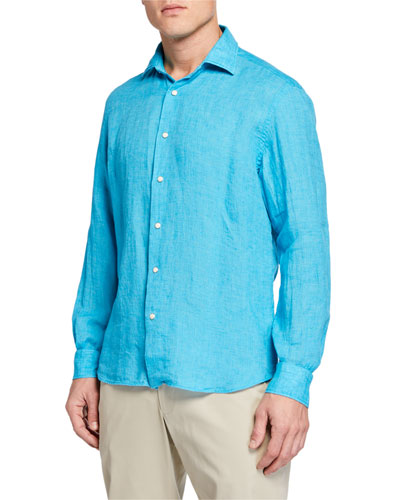 Men's Long-Sleeve Extra Soft Solid Sport Shirt