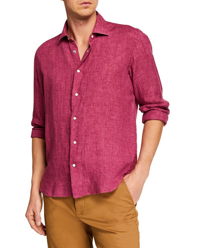 Men's Extra Soft Linen Sport Shirt