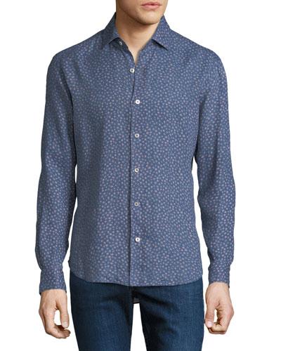 Men's Floral Print Shirt