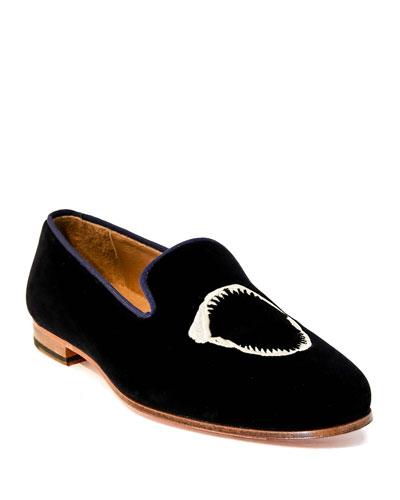 Men's Jaws Velvet Slip-On Loafers