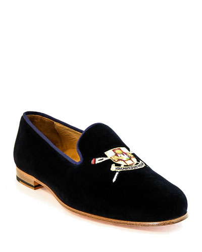 Men's Rowing Club Embroidered Velvet Loafers