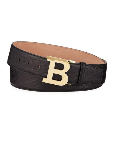 51e360c8e3f40 Quick Look. Bally · Men s Stamped Leather Belt ...