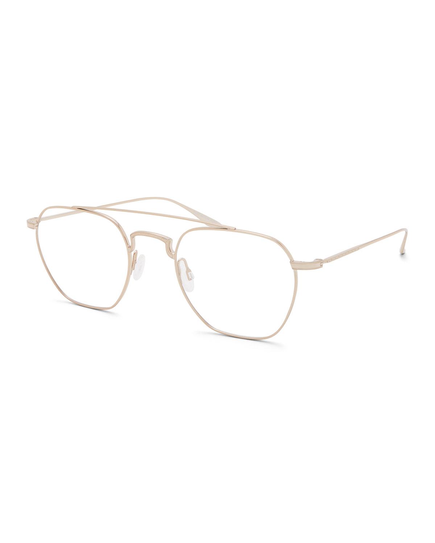 Men'S Doyen Titanium Aviator Glasses in Gold
