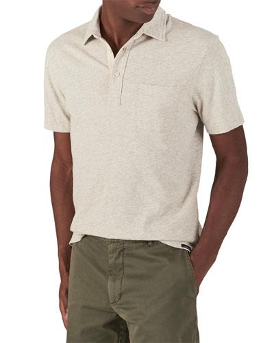 Men's Bleecker Heathered Short-Sleeve Polo Shirt with Pocket