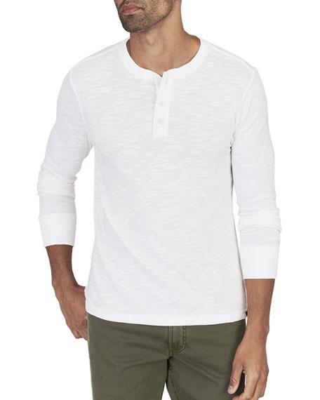 Faherty Men's Slub Cotton Henley Shirt