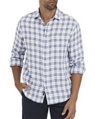 Faherty Men's Ventura Box-Plaid Linen Sport Shirt with