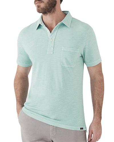 Men's Sunwashed Short-Sleeve Polo Shirt with Pocket