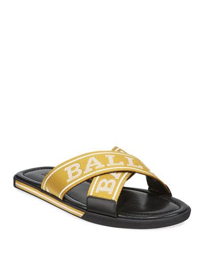 215e1293c88b Quick Look. Bally · Men s Logo Leather Slide Sandals