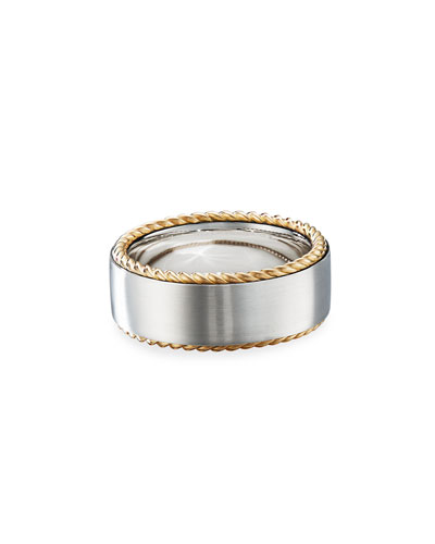 Men's 9mm 18k-Gold Streamline Band Ring