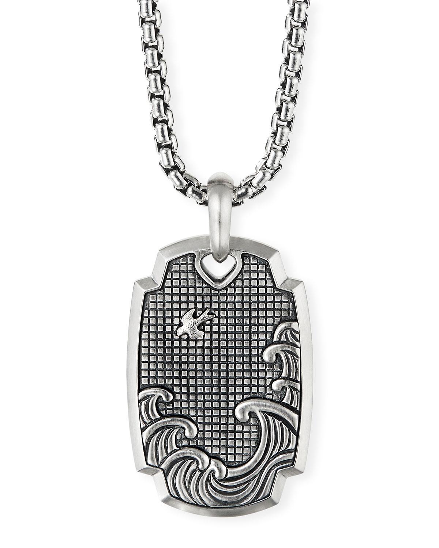 Men's Silver Waves Amulet Enhancer