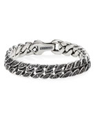 David Yurman Men's 11.5mm Silver Curb Chain Bracelet