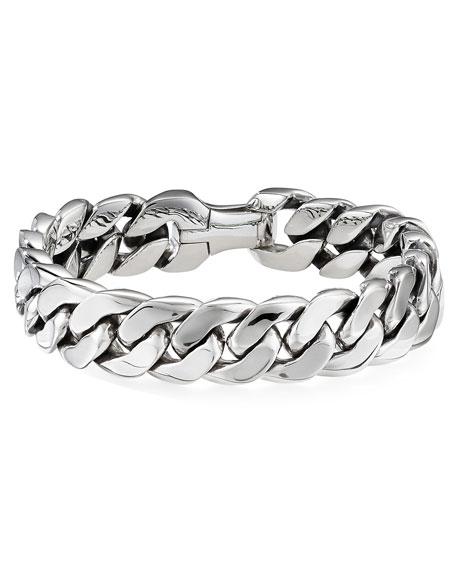 David Yurman Men's 14.5mm Silver Curb Chain Bracelet