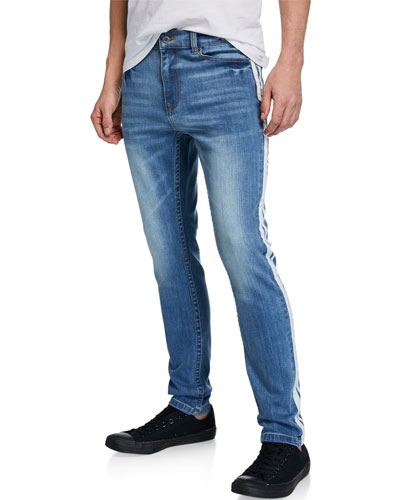 Men's Side-Striped Slim Leg Jeans