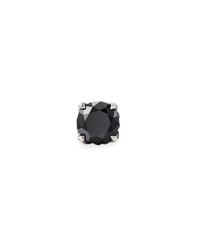 Men's Black Diamond Stud Earring
