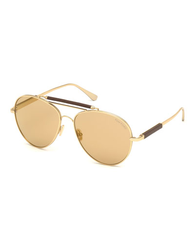 Men's Metal Aviator Sunglasses with Flash Photochromic Lenses