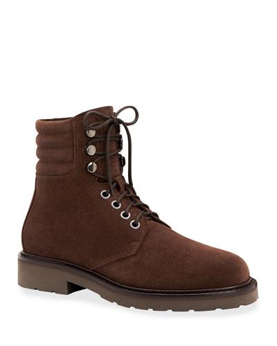 Men's Heath Waterproof Suede Lace-Up Boots