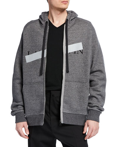 Men's Anti-Logo Fleece Zip-Front Hoodie