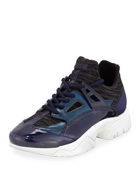 Kenzo Men's Sonic Sneakers with Leather Trim