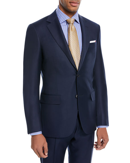 Canali Super 130s Twill Wool Two-Piece Suit