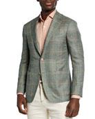 Canali Men's Kei Windowpane Sport Coat