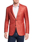 Canali Men's Wool/Linen Blazer Jacket