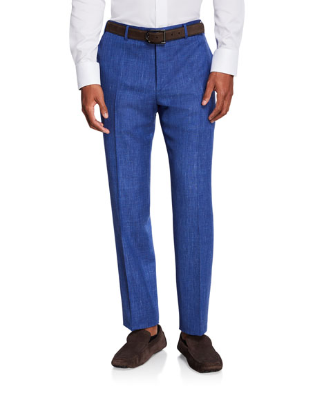 Canali Men's Solid Travel Trousers