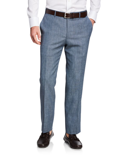 Men's Solid Travel Trousers