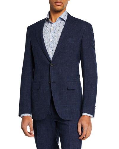 Men's High Performance Tonal Check Two-Piece Suit