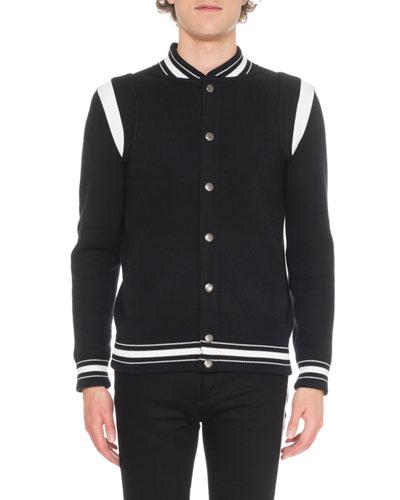 Men's Knit Bomber Jacket