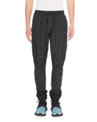 Givenchy Men's Striped Logo Joggers