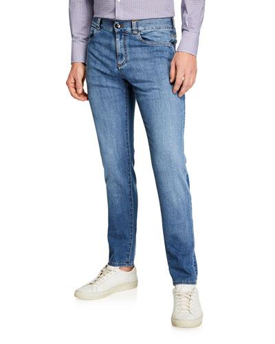 Men's Light Washed Denim Jeans