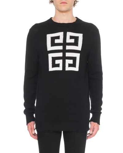 Men's Jacquard Round-Neck Sweater