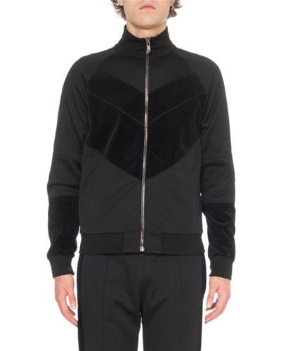 Men's Velvet Track Jacket