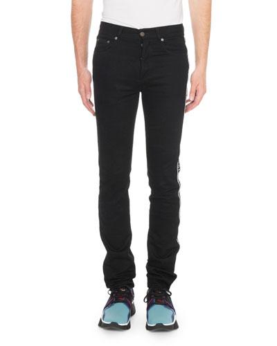Men's Stretch Denim Logo Jeans