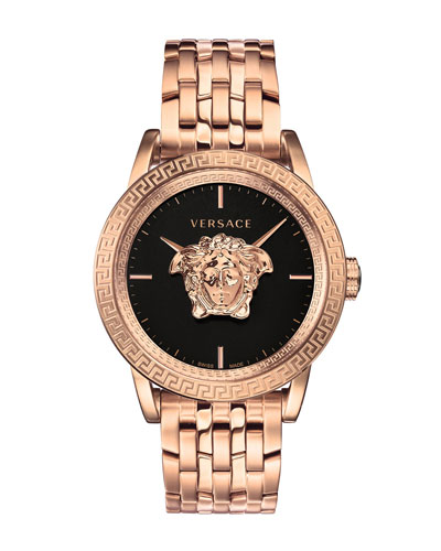 Men's 43mm Palazzo Empire Watch, Rose Gold