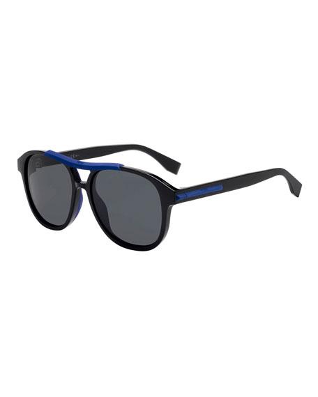 Fendi Men's Plastic Aviator Sunglasses