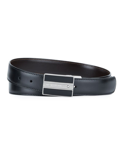 Men's Meisterstuck Rectangular-Buckle Leather Belt