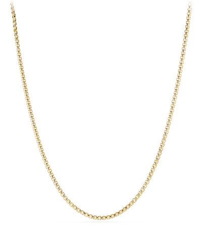 Men's Medium Box Chain Necklace in 18k Gold, 26