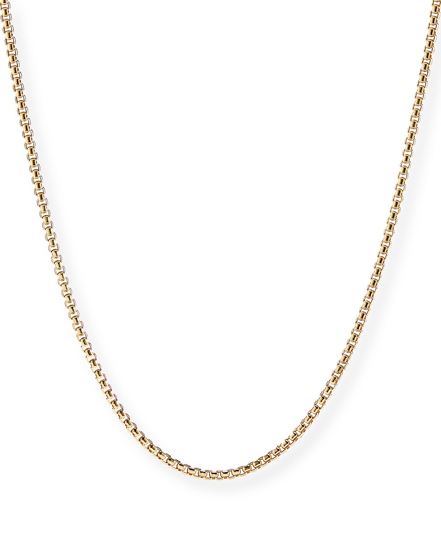Men's 18k Gold Box Chain Necklace