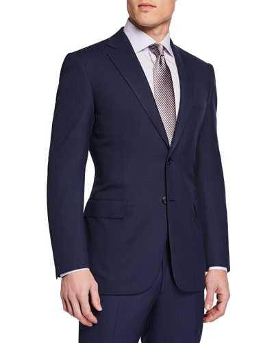 Men's Herringbone Two-Piece Suit