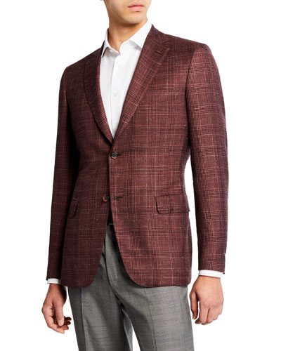 17a007c89077 Quick Look. Brioni · Men s Cashmere Silk Plaid Sport Coat
