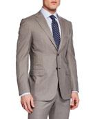 Brioni Men's Taupe Windowpane Two-Piece Suit