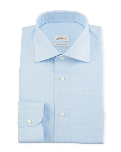 Men's Prince of Wales Dress Shirt