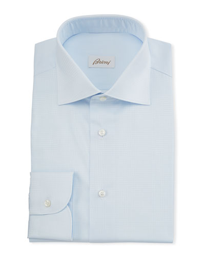 Men's Plaid Jacquard Dress Shirt