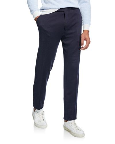 Men's Silk/Cotton Knit Pants