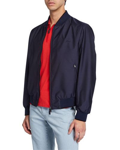 Men's Waterproof Zip-Front Bomber Jacket