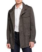Brioni Men's Silken Safari Jacket